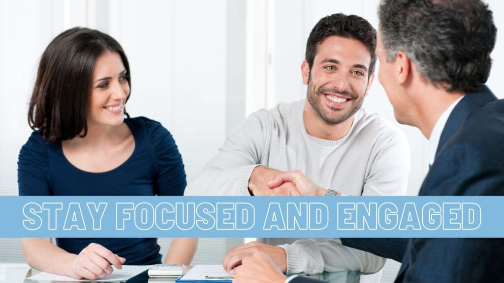 Stay Focused and Engaged Tip Graphic