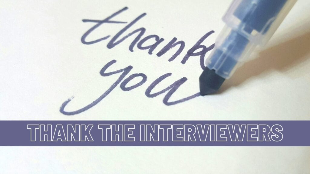 Thank Your Interviewers Tip Graphic
